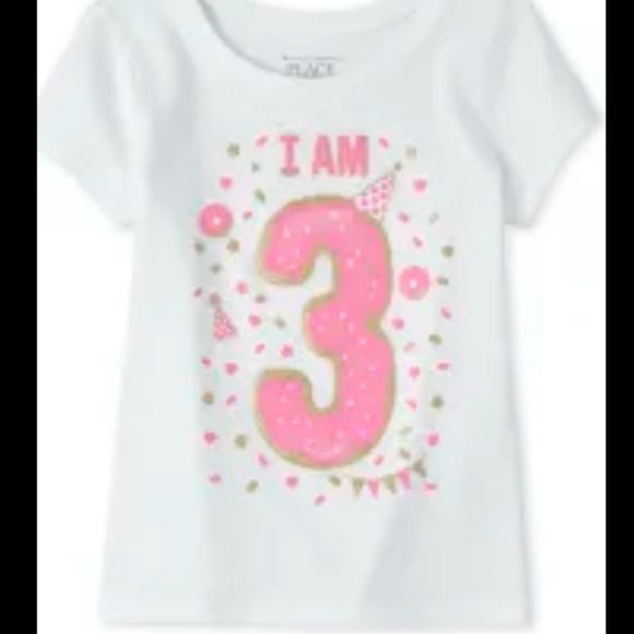 3T I'm 3 Happy Birthday Tee Kid Age Tee Pink Party